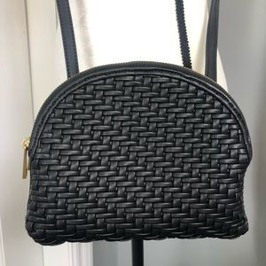Anthropologie Faux Leather Weaved Design Crossbody